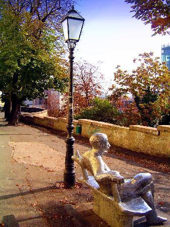 Upper Town (Gornji Grad) : Just sitting with Matos (poet)