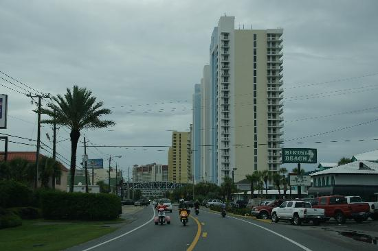Majestic Beach Towers Front Road View