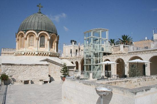 Ecce Homo Convent : vue de la terrasse