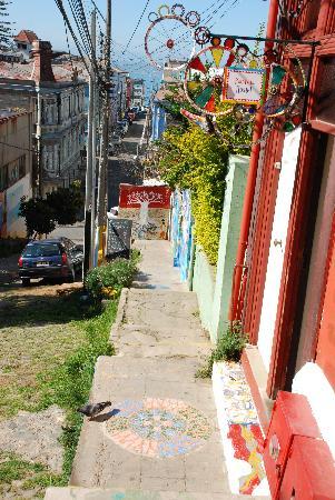 PataPata Hostel : Aussicht über die Stadt vor dem Haus.
