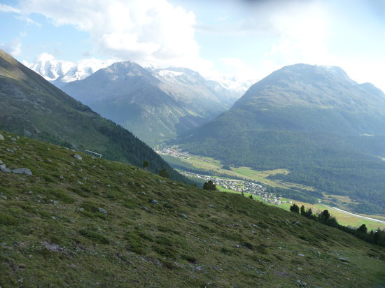 St. Moritz, Zwitserland: view from top