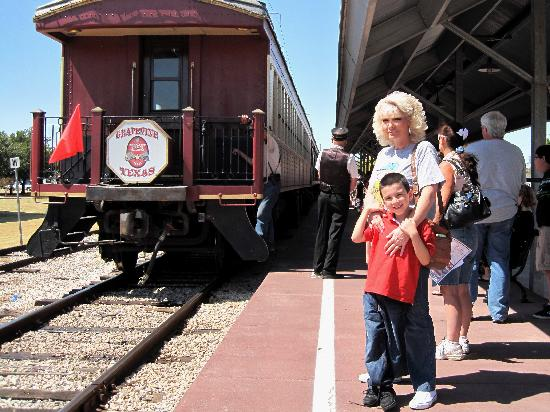 Grapevine Vintage Railroad: Waiting to board the train.