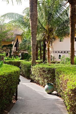 Les Alizes Beach Resort: The luxurious garden