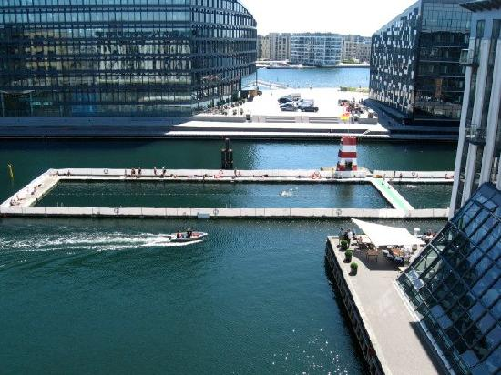 "Copenhagen Island Hotel : View of ""harbor pool"" from our balcony."