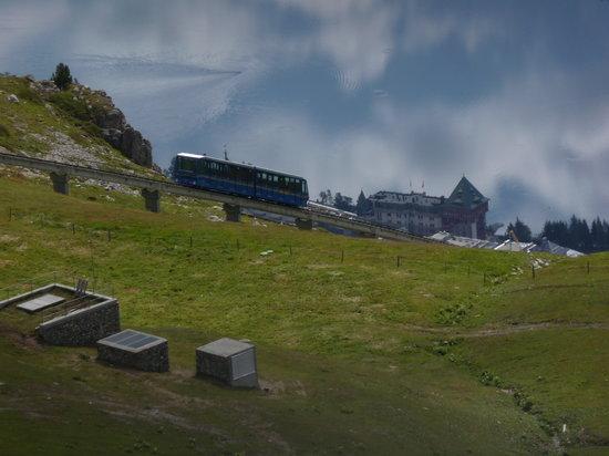 St. Moritz, Zwitserland: funicular