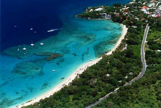 Neverland Guest House: Sosua beach from the air