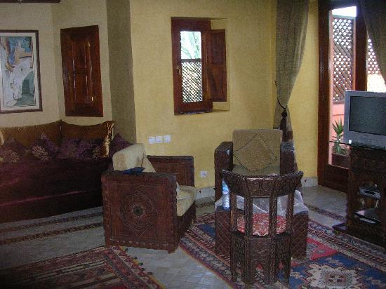 Villa Dar Zina: le coin salon de la suite Royale