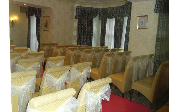 Headingley, UK: The Bramley Suite where the ceremony was held