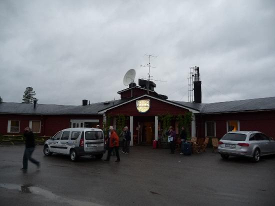 Arjeplog, Schweden: Eingangsbereich des Hotels