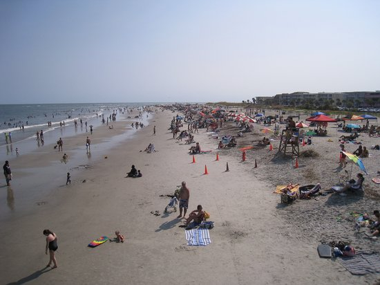 Tybee Island, จอร์เจีย: Tybee Beach, around 17th street