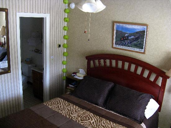 Profile Deluxe Motel: The bathroom floor is an inch or so lower than the main floor, I suppose to keep overflowing wat