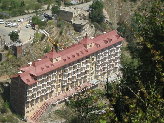 Toshali Royal View: view of hotel from trekking point
