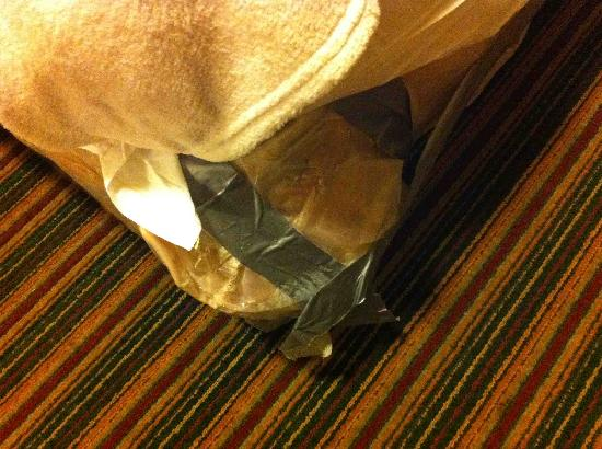 San Luis Inn & Suites: Duct tape holding bed together