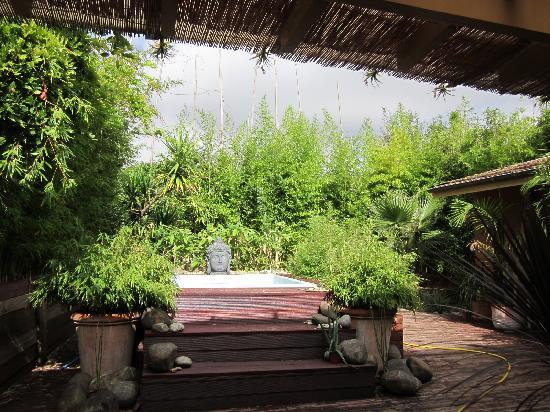 Le clos des bambous : jacuzzi