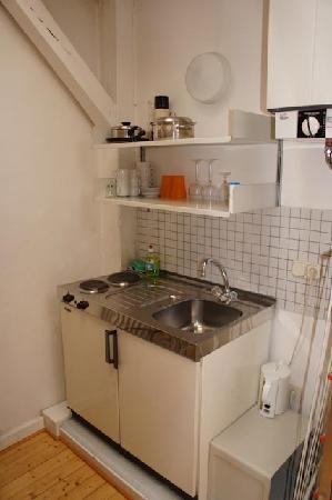 Pension Aller: kleine Küche