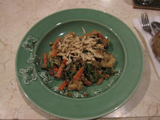 Balam Bali Villa: Vegetarian main dinner dish, good!