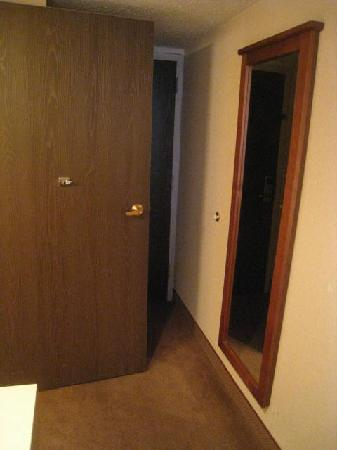 Ramada Bismarck: A rather intrusive bathroom door.
