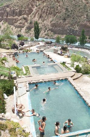 Parque de Agua Termas Cacheuta: Termas Cacheuta - Parque de Agua Piscinas Externas