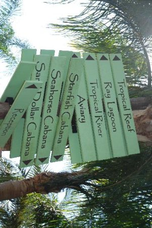 ดิสคัฟเวอรี โคฟ: Signs showing all they offer