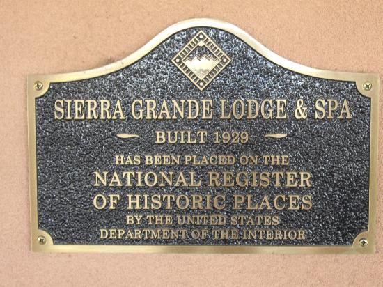 Sierra Grande Lodge & Spa: Sign