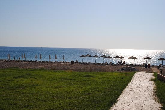 Afandou, Grèce : Från hotellet ner mot stranden