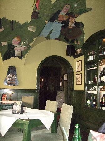 Maska Pub: Quriky paintings interior