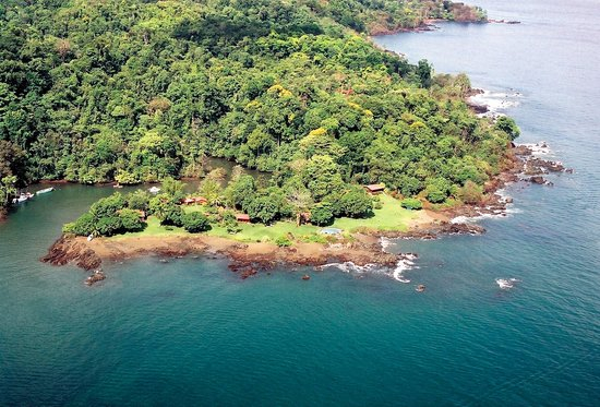 Drake Bay Wilderness Resort : Bird´s Eye View of The Hotel