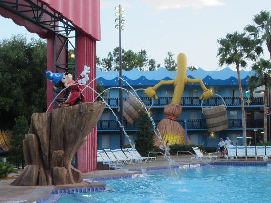 Disney's All-Star Movies Resort: The pool (first thing in the morning before breakfast)