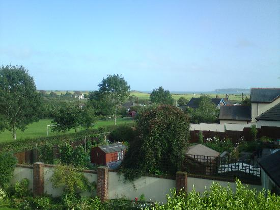 Wychwood House : view from my room (sea in distance)