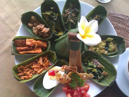 Boni Bali Restaurant: nasi campur / mix rice