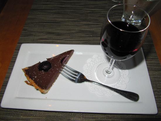 Friday Harbor House Restaurant: Dark Chocolate Tart with Washington Syrah Port
