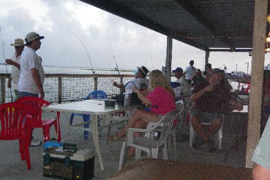 "Indianola Fishing Marina: The ""Dining"" area"