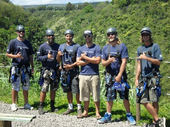 Hilo Zipline over KoleKole Falls: Mahalo to the crew; it was Pili lani!