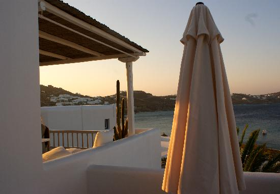 Apollonia Hotel & Resort: Our terrace at sunrise...