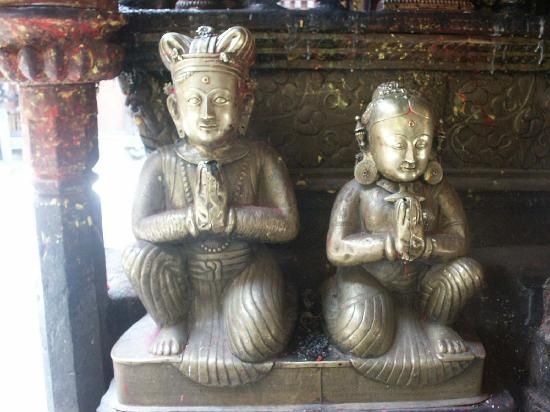 Πατάν, Νεπάλ: King and Queen, Golden Temple, Patan (Lalitpur)