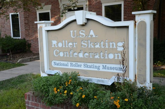 National Museum of Roller Skating: Entrance sign