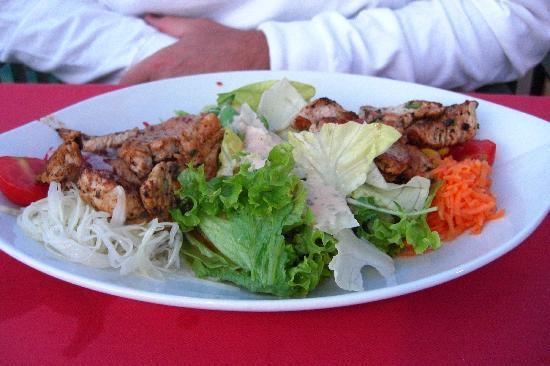 Turkey Salad at the Hotel Donauschlinge