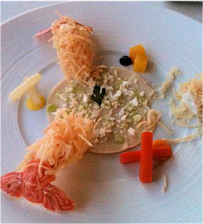 Meridiano: Langoustines with cauliflower