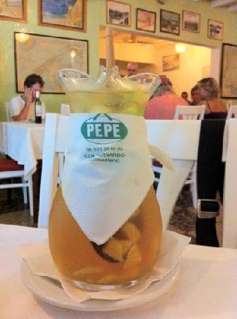 Fonda Pepe: bevimi