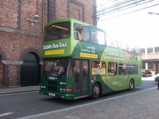 Dublin Bus: The Green bus at the home of the
