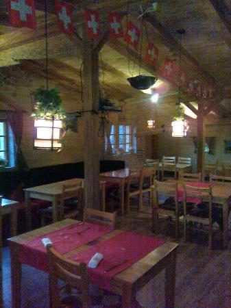 "Heidi's Restaurant & Bar: ""Swiss chalet"" feeling upstairs"
