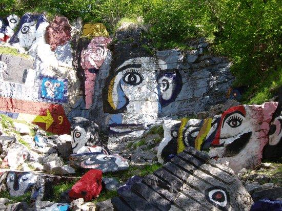 Conco, Italie : cava dipinta