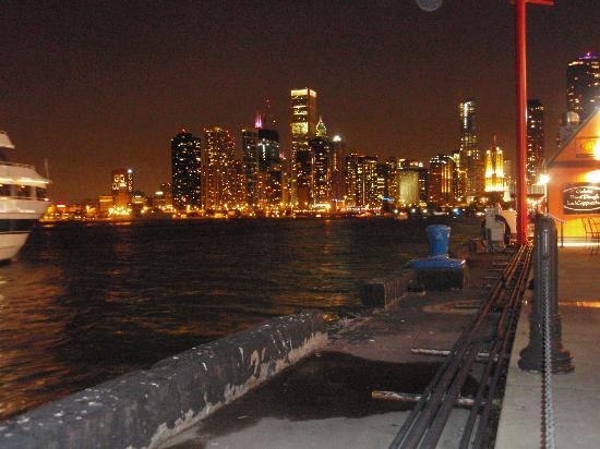 Navy Pier: Chicago skyline