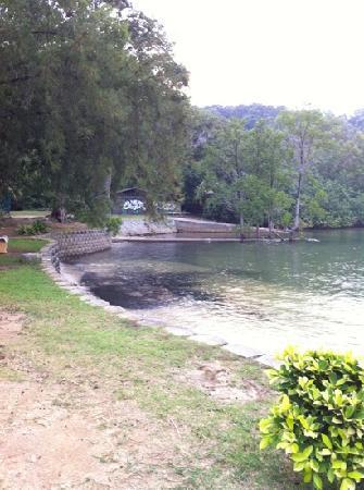 Ilham Resort Port Dickson: beach area outside Ilham Resort