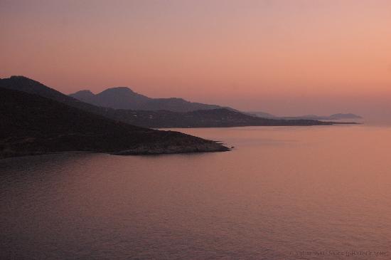 Ile Rousse, Frankrijk: il tramonto da La Pietra