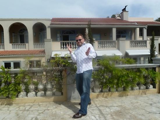 Clouds Wine & Guest Estate: Ken on the terrazzo admiring Clouds and the spectacular views!