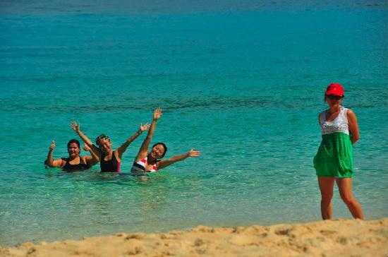 Yapak Beach (Puka Shell Beach): happy to be in puka