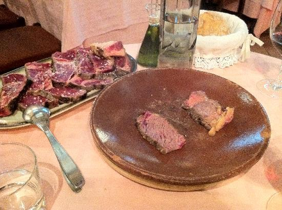 "Asador Donostiarra : ""Special Chuleton"" on the hot plate"