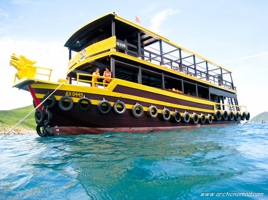 Coco Dive Center: The boat they use, biggest one of all the dive companies