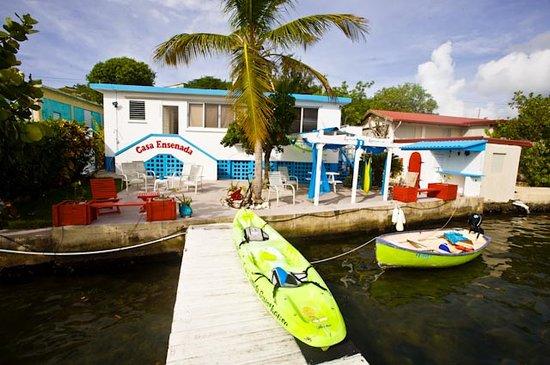 Casa Ensenada Waterfront Guesthouse: Back Patio